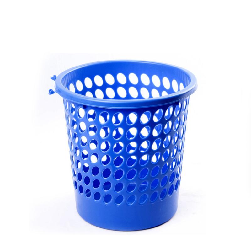 Colorful Portable Small Round Storage Plastic Waste Paper Trash Basket  SC-41