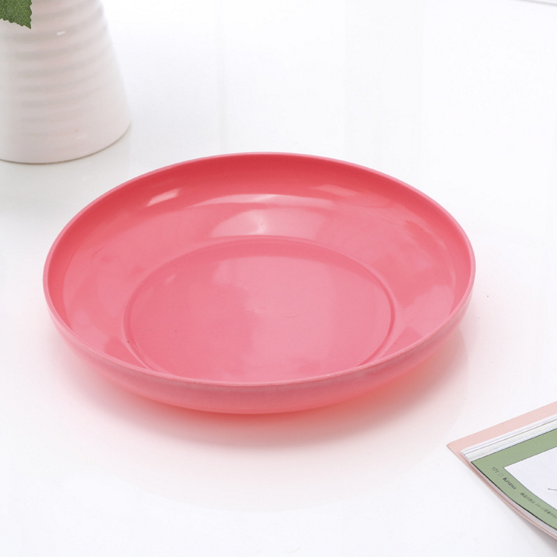 Cute Round Shaped Practical Washable Plastic Fruit Plate  SC-43