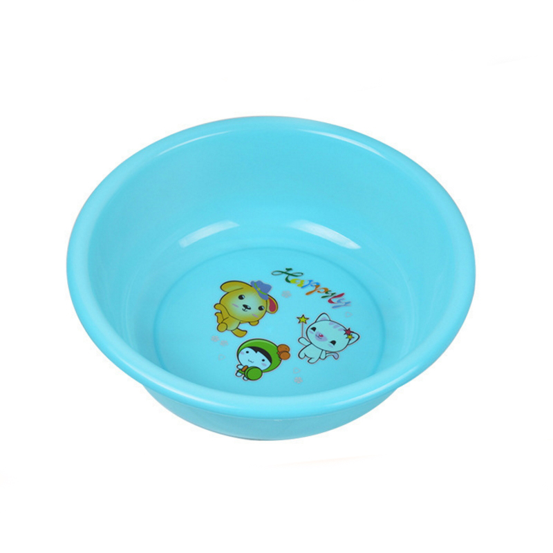 Colorful Household Round Plastic Laundry Tub Bathroom Washing Basin  SC-44