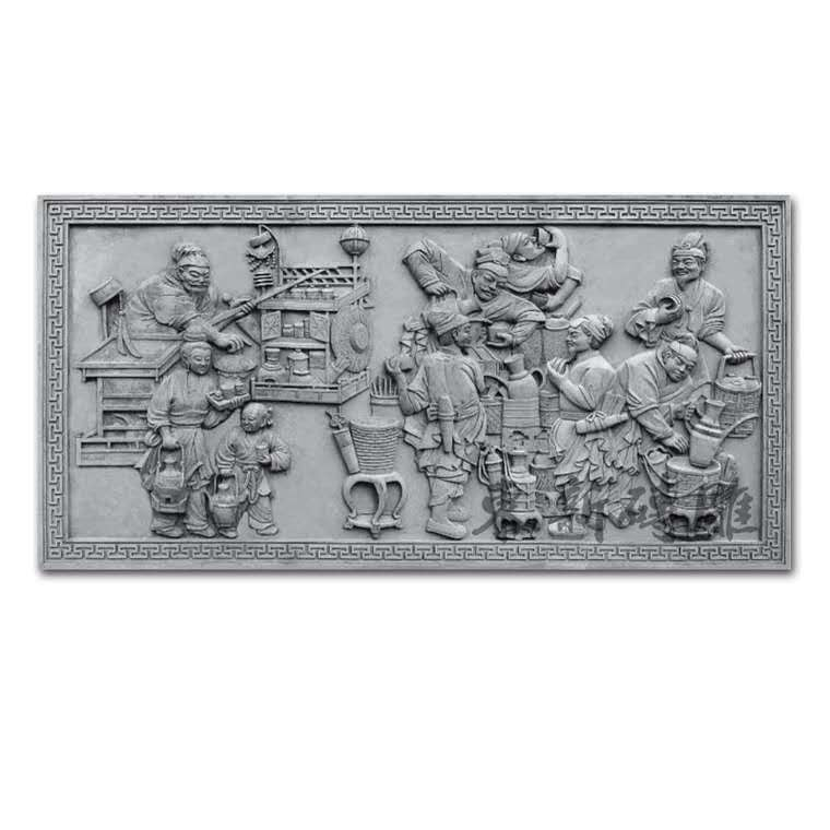 Brick carving archaize Chinese style courtyard building decoration