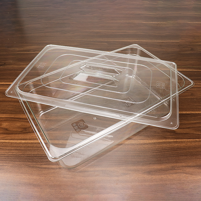 Hotel Equipment Restaurant Kitchen Food Grade Acrylic Plastic Gastronorm Containers  HD-8613