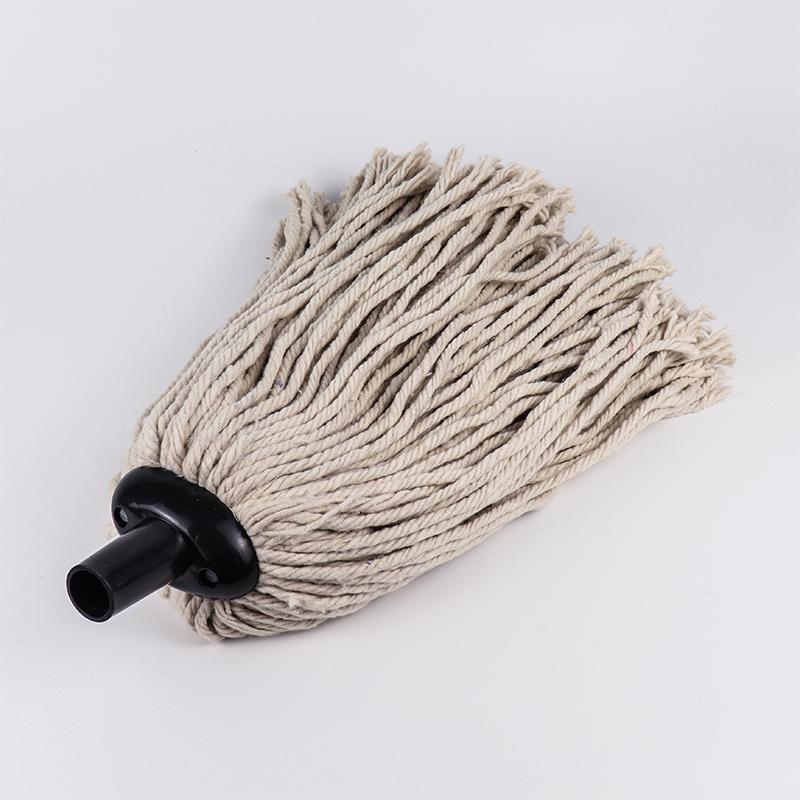 Wet Microfiber Cotton Floor Mop Head with Plastic Socket RJ-031
