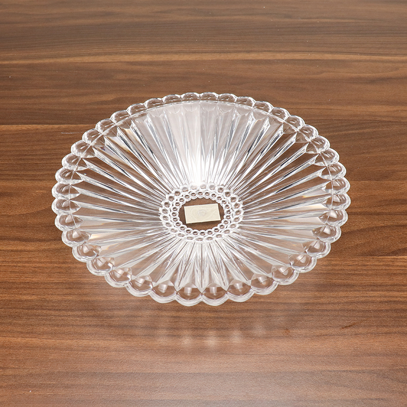 High Quality Clear Flower Design Thick Acrylic Fruit Plate HD-LH01