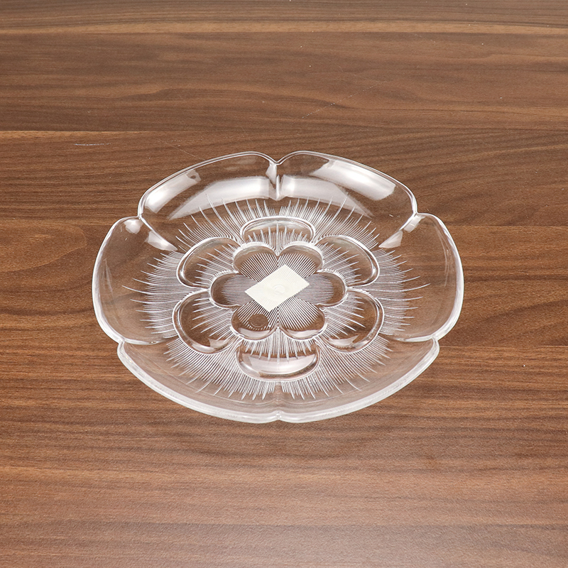 Household Kitchen Items Acrylic Food Display Stand Clear Dry Fruit Plates HD-MH01