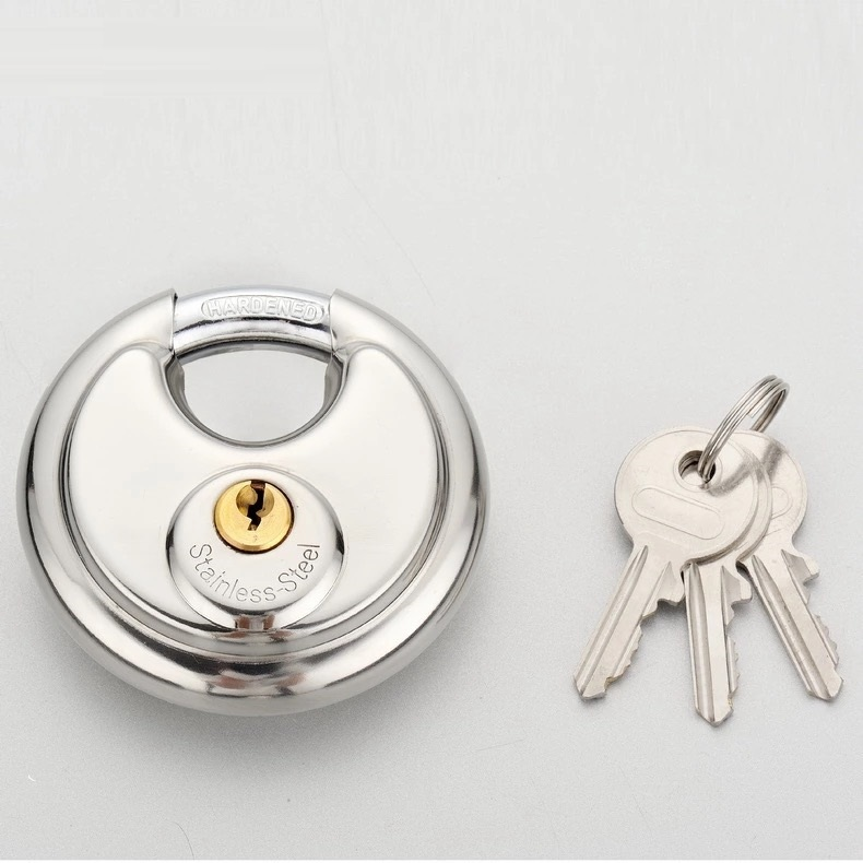 High security 201 stainless steel disc padlock  p52