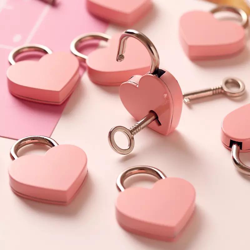 heart lock 6 colors padlock love lock heart shaped padlock  P40