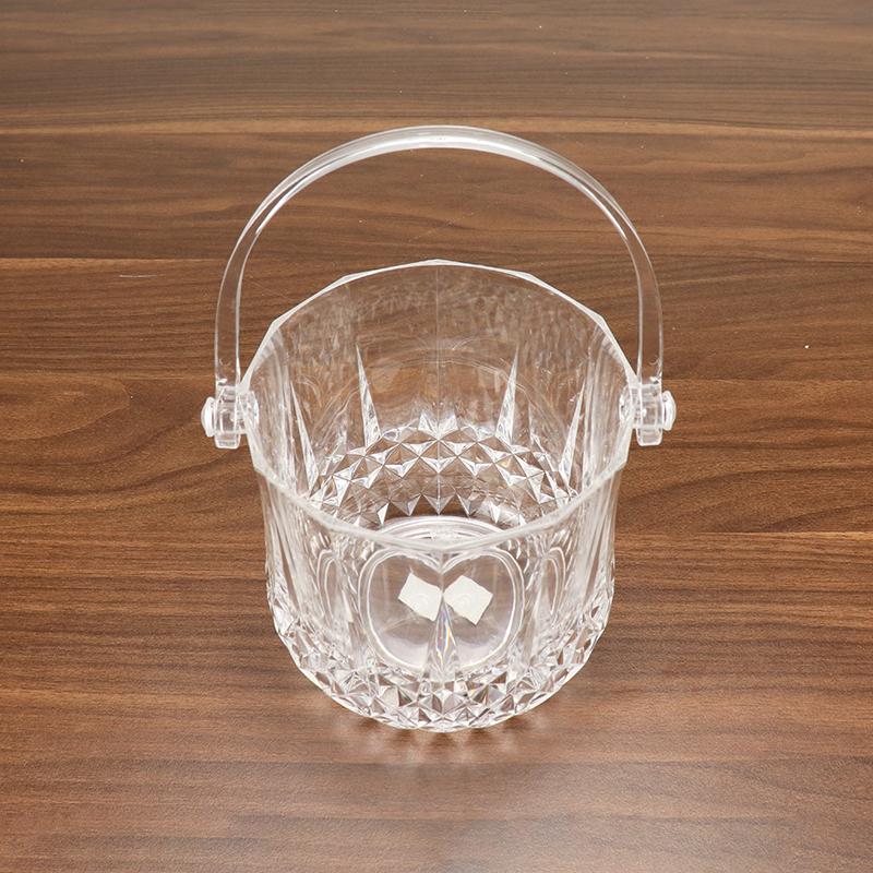 Diamond Acrylic Ice Bucket with Tong HD-5107