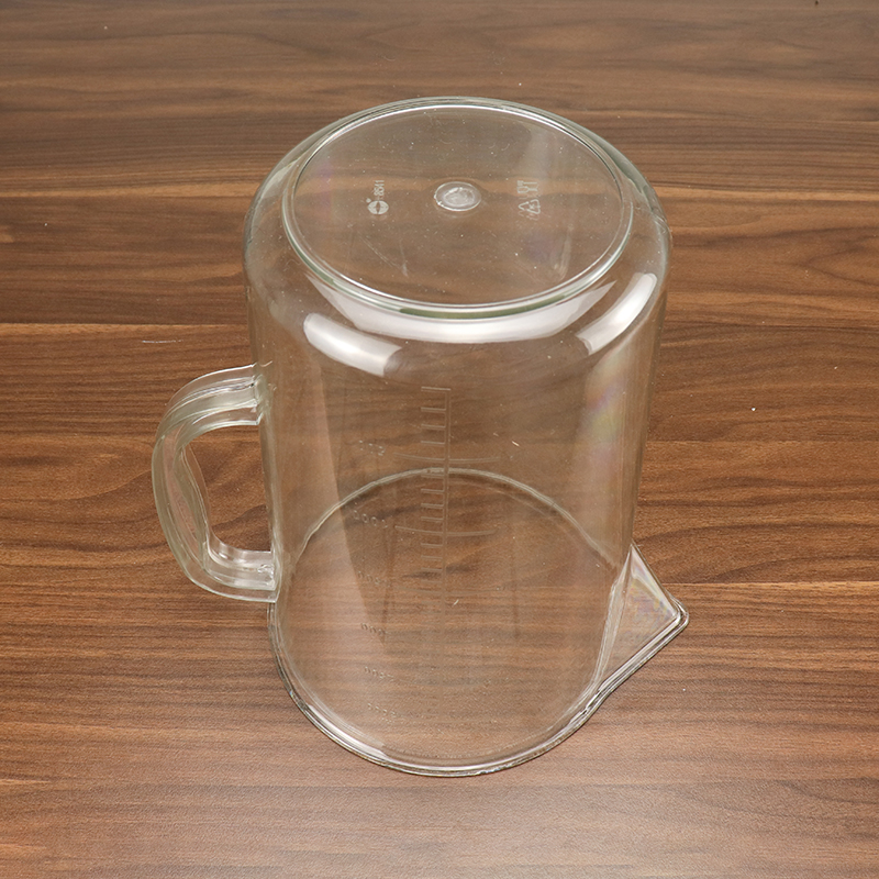 High Borosilicate Glass Graduated Transparent Measuring Glass Cup with Cap HD-8541
