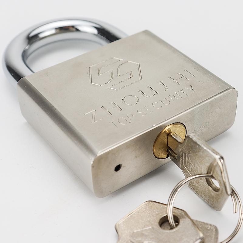 Square silver iron padlock ZS-010