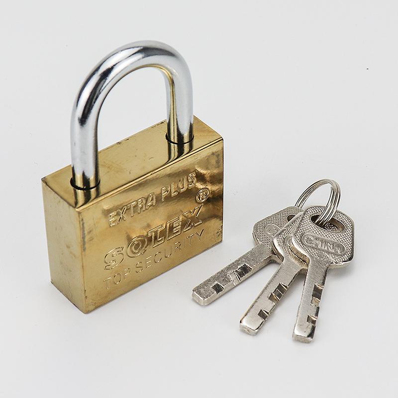 Square imitation copper iron padlock ZS-005
