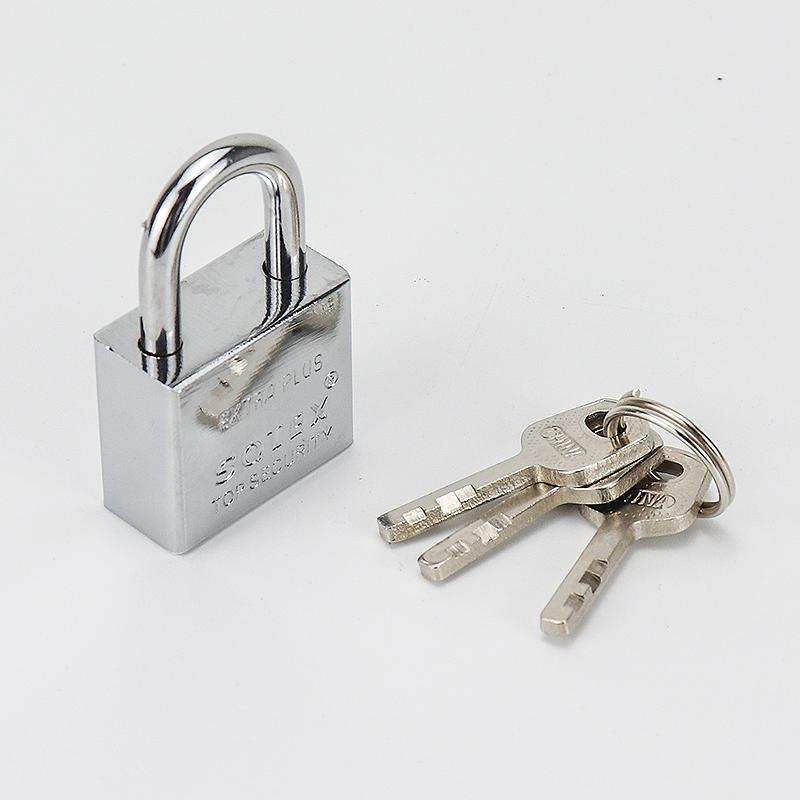 Square silver zinc alloy padlock ZS-004