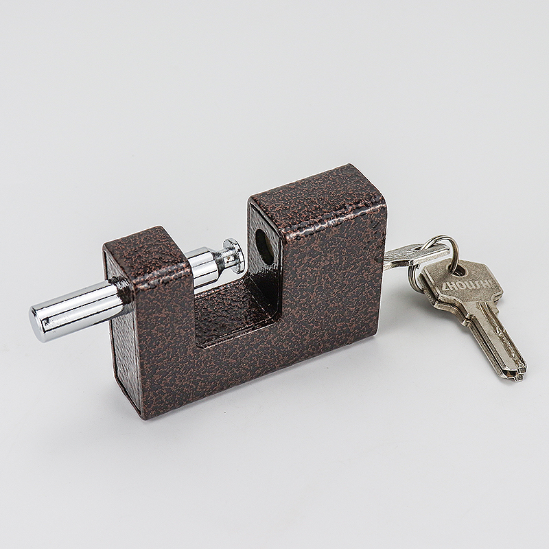 Rectangular purple iron padlock ZS-016