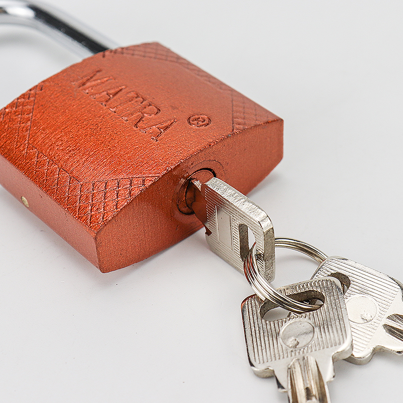 Rectangular red bronze iron padlock ZS-017
