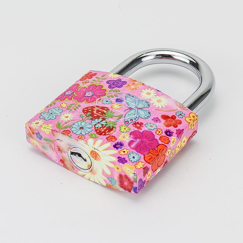 Wholesale unique flower painted cute blossom padlock ZS-028
