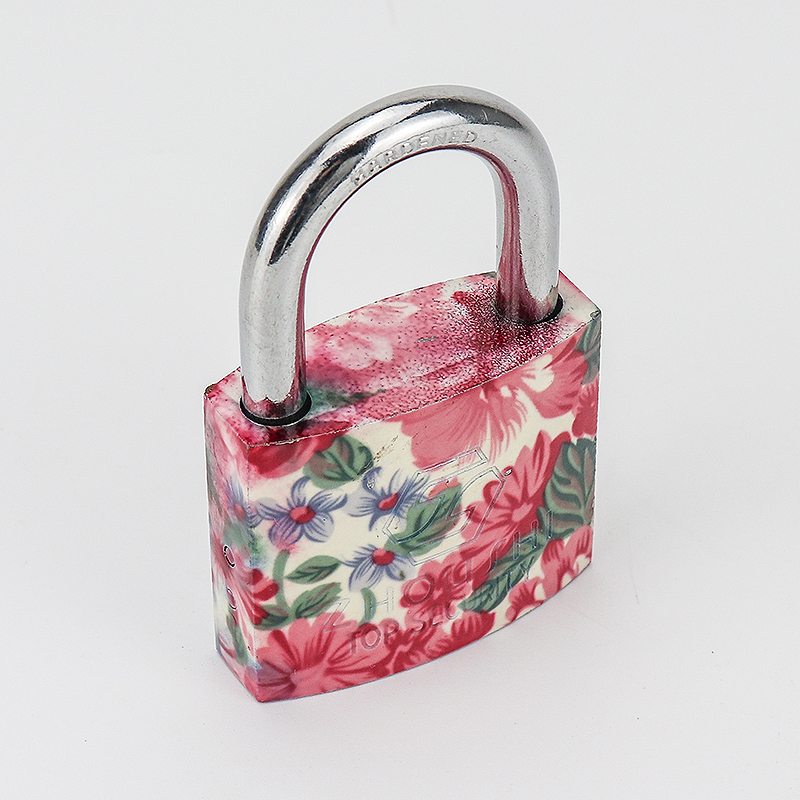 Flower Blossom Printing  Combination Padlock Decorative Padlock ZS-030