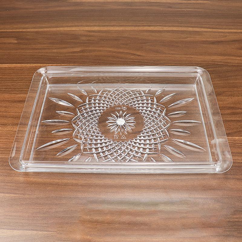 Custom colored acrylic towel tray plexiglass serving tray storage tray  GC-9221
