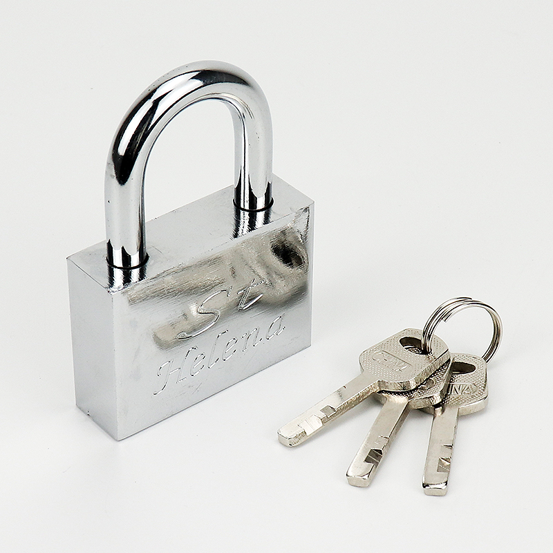 golden titanum plated brass imitation padlock ZY-013