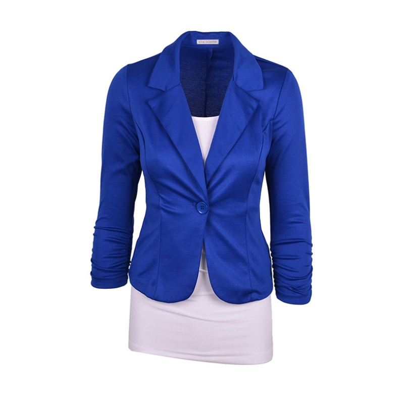 Women's Casual Work Solid Color Knit Blazer costs MX-010