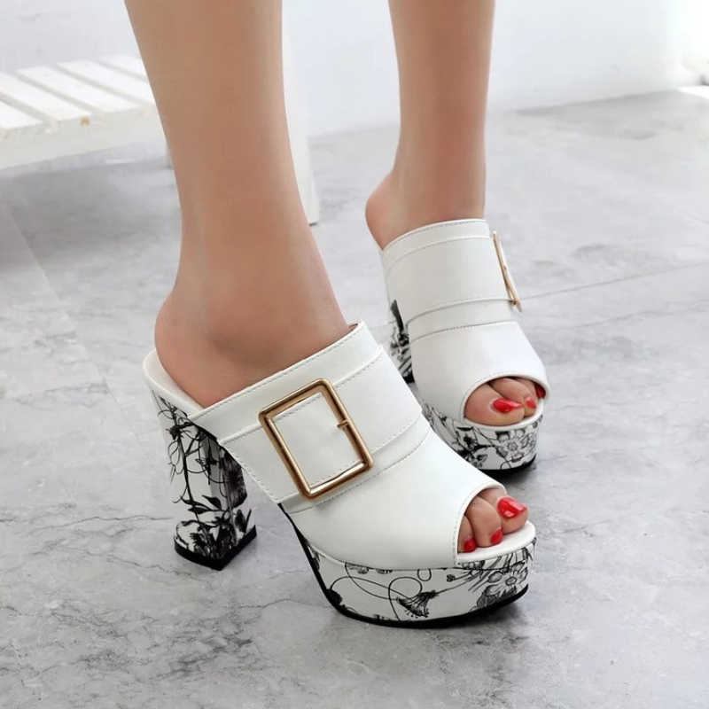 Fashion ladies office / party / wedding high heels sales ladies sandals slippers S-003