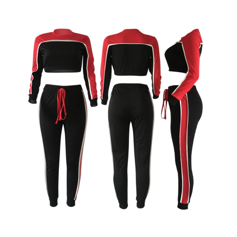 Womens custom gym tracksuit Fn-003