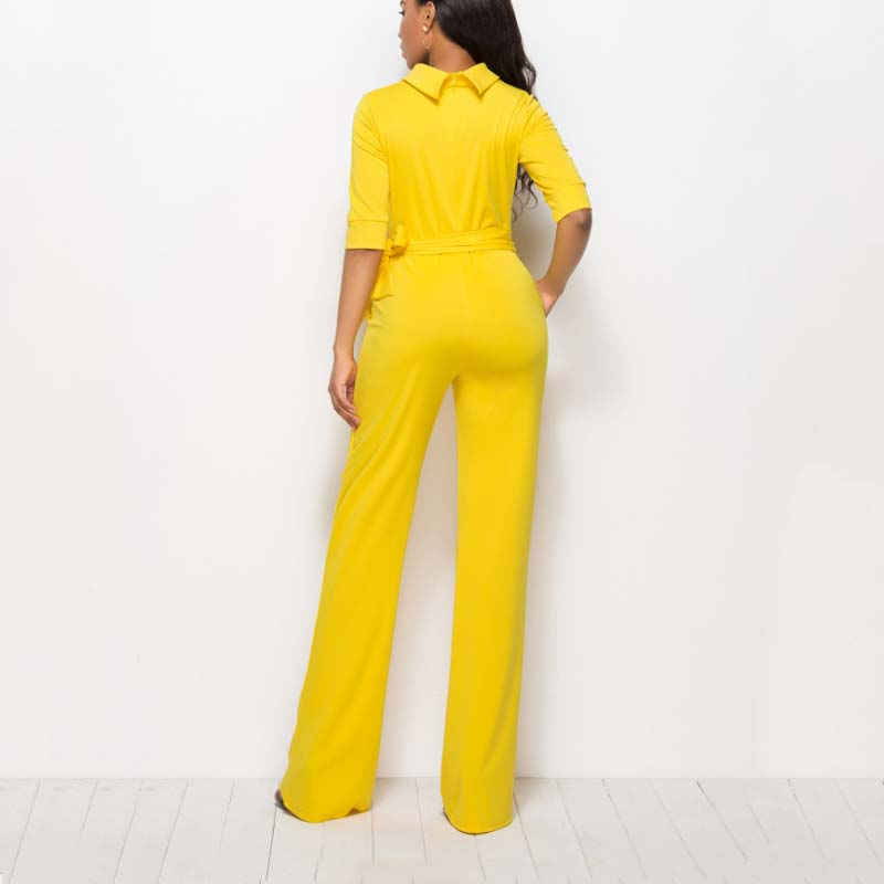 High quality stretchy black jumpsuit rompers women half sleeve jumpsuits Dy-012