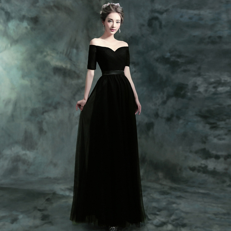 Favorite Open Shoulder Evening Dresses W-003