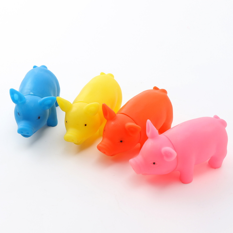 Rubber Pet Dog Chew Squeaky Toy Mini Pet Pig Funny Sound Toys 000