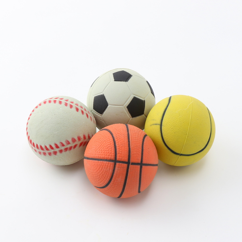 Natural rubber foam pet dog toy ball ZH
