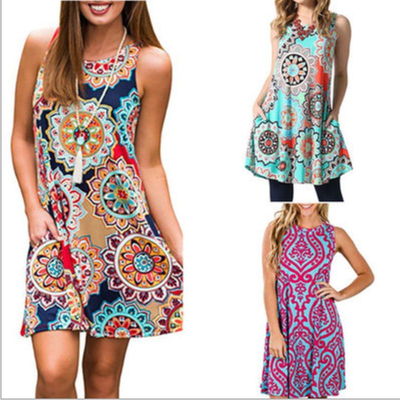 Beauty Female Sleeveless Retro Wear Cheap Dress Bj-015