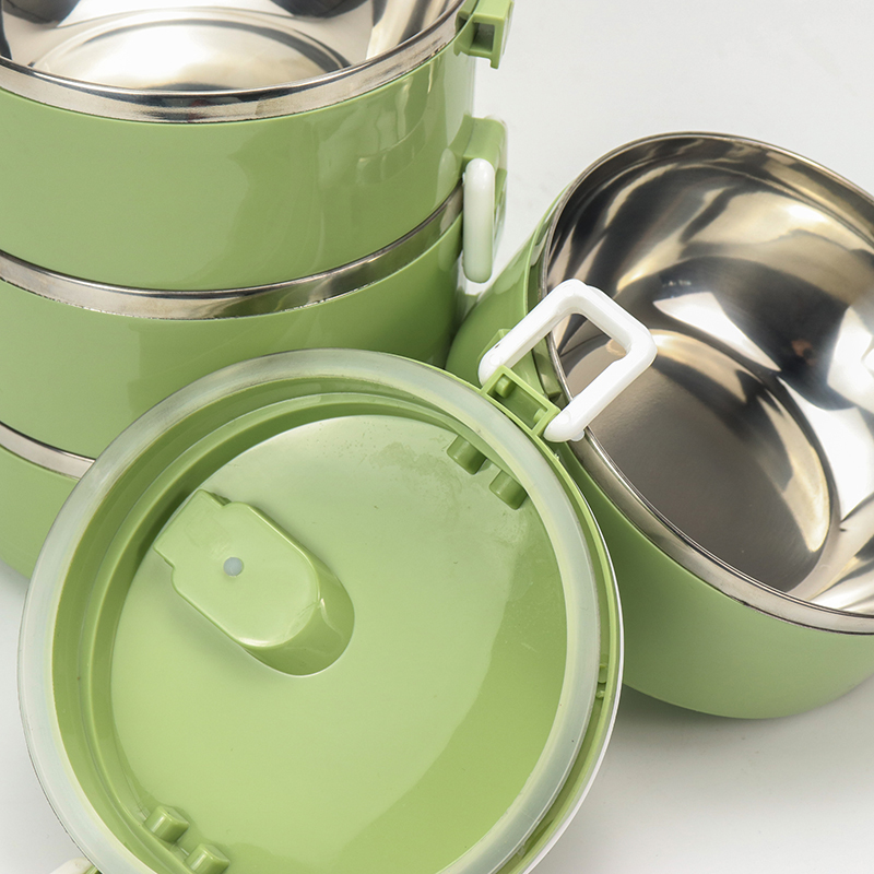 Custom square thermos stainless steel lunchbox insulated food box with double wall