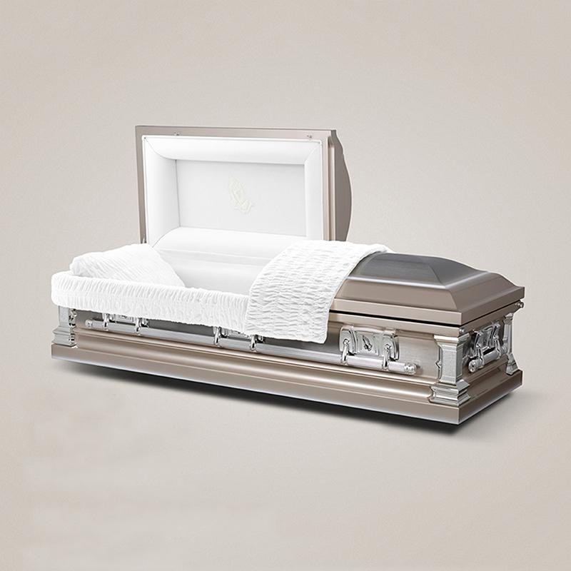 Best price wholesale stainless steel metal america coffin bier casket