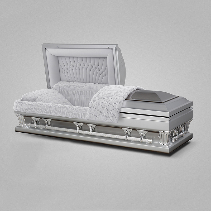 Reasonable price wholesale stainless steel american style coffin adult
