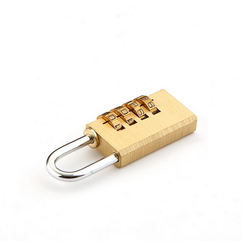 Brass Combination Password Brass Square Type Plated Iron Padlock  SS-005