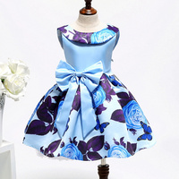 Fashion Children Baby Kids Sweet Cute Princess Sleeveless Pageant Vestido De Nina Flora Flower Girl Party Dresses T-003