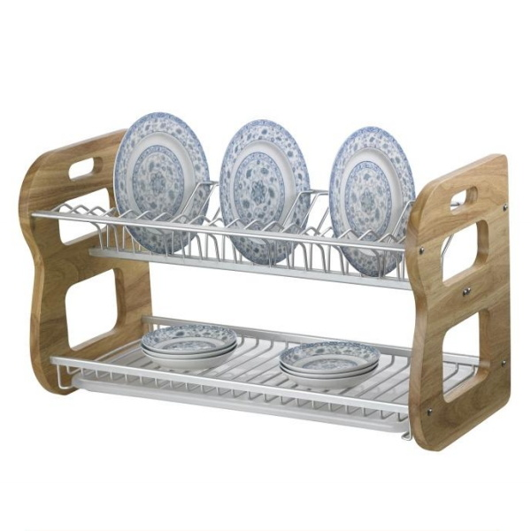 Kitchen Hardware 2-Tiers Stainless Steel Dish Drying Rack SSB-N14