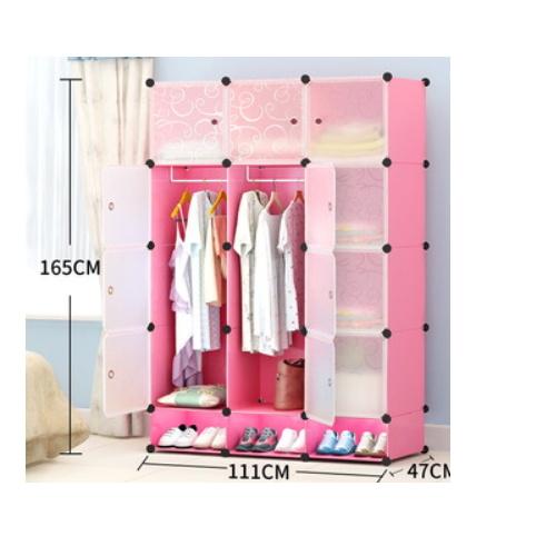 DIY Wardrobe Simple Plastic Cabinet  MP126XA