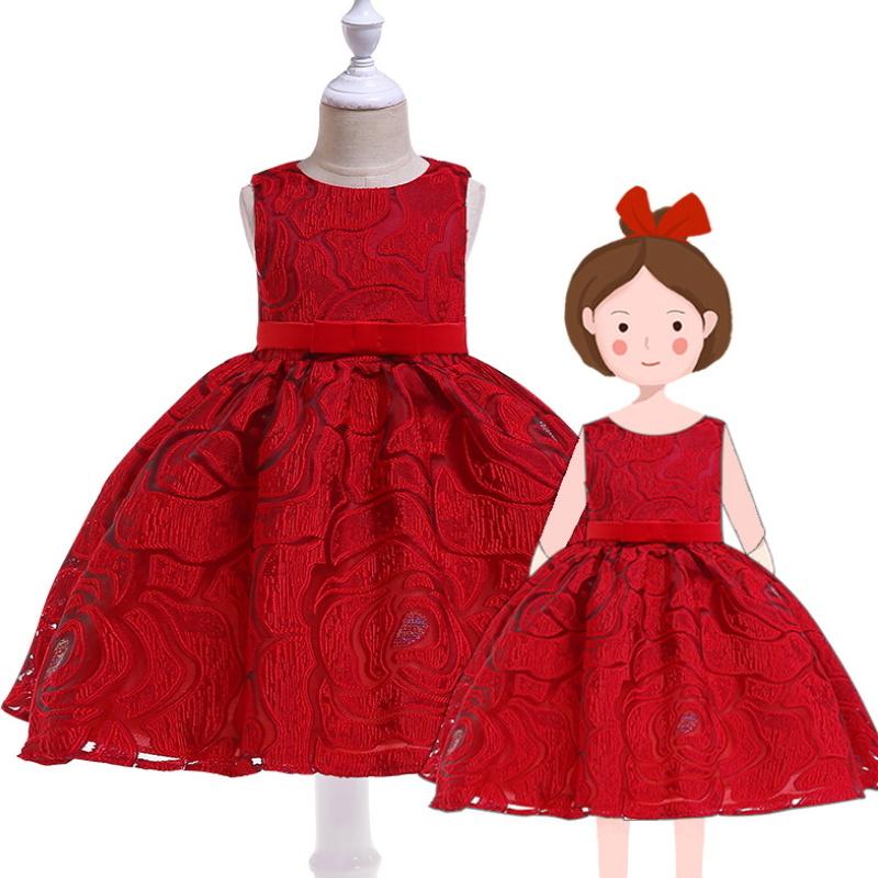 High Quality Lace Princess Dress Wedding Dress Kids Girls Party Dresses  T-002
