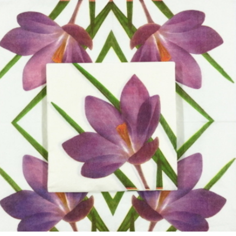 Disposable Paper Party Napkins with Floral Prints