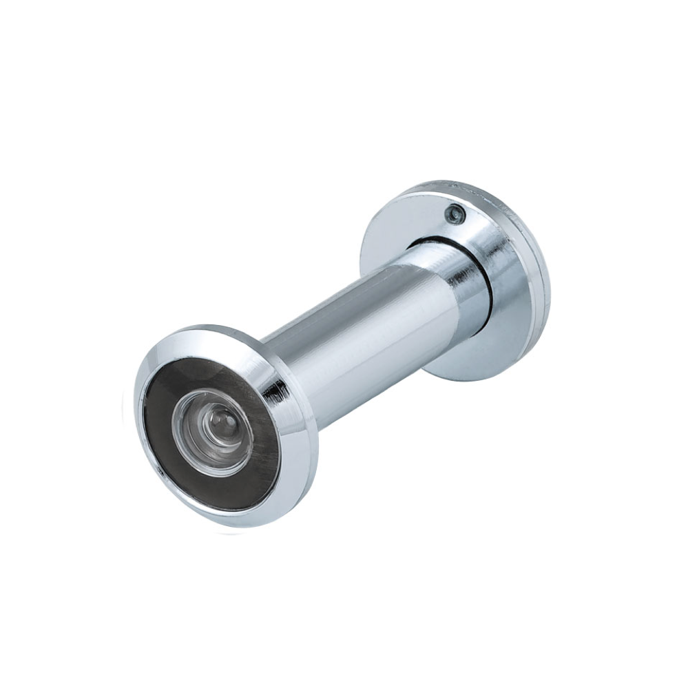 Chrome Popular Wide Angle  Zinc Body Plastic Lens Door Eye Viewer Peephole DVZ3, 16/200/50x90 CP