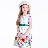 Party Wear Dresses One Piece for Girls Kid′s Clothes T-009