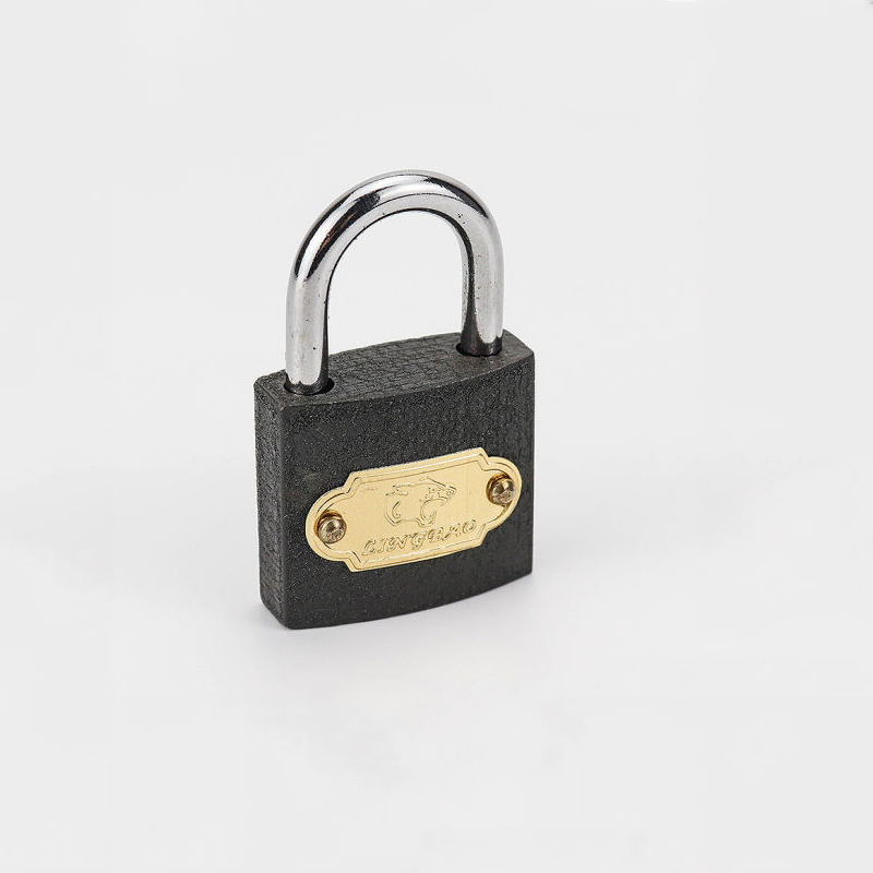 Hot Sale Short Shacke Black Padlock Iron Padlock Zy-002