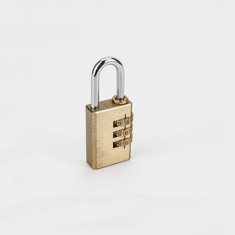 High Quality 3 Digits Security Brass Combination Padlock Zy-003