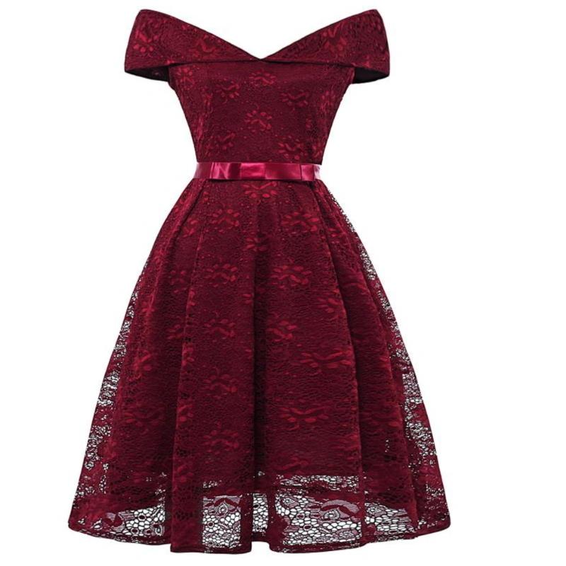 Cap Sleeve Casual Fancy Lady Lace Dress Woman