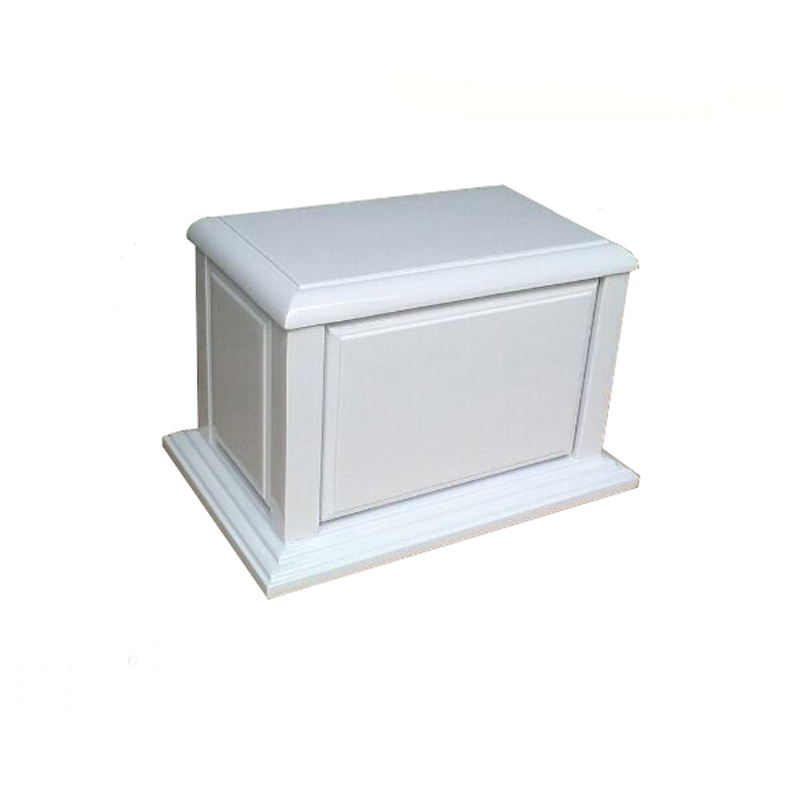 Chinese Supply White Coffin Box/Coffin Casket For Pet Or Cremation TD-U02