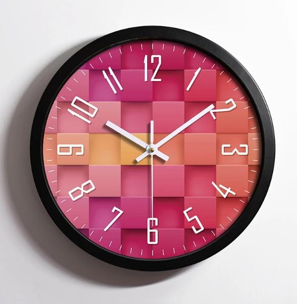 Luxury Fashion Quality Plastic Frame Wall Clock