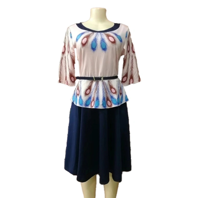 Large Size Breathable Fabric Design Hot Sale Short Women Loose Dresses