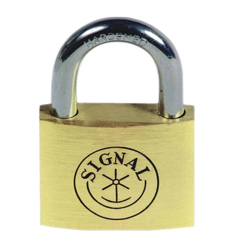 Thick Type Brass Color Arc Iron Arc Type Padlock Padlock with Hardened Shackle and Iron Cylinder