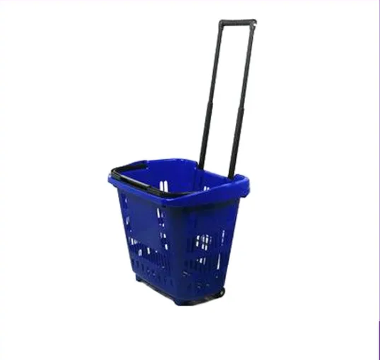 New Retail Supermarket Plastic Shopping Mini Trolley