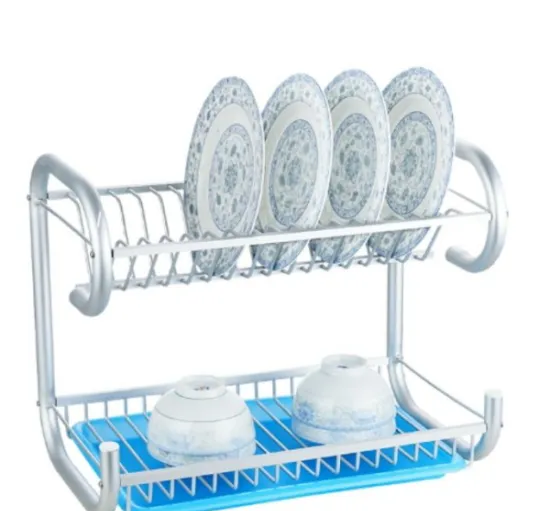 Galvanized Steel Powder Coating Kitchen Dinnerware Dish Drying Rack