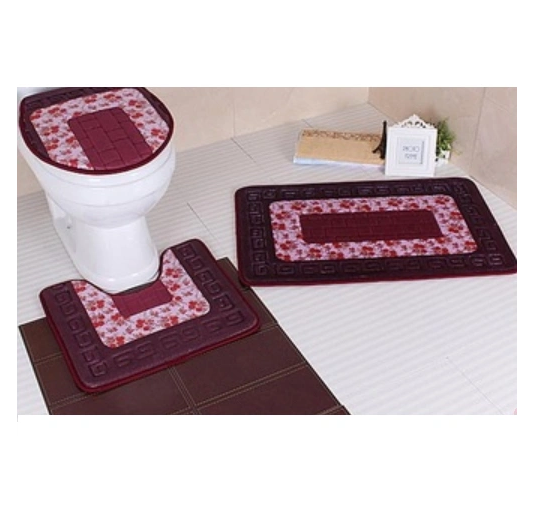100% Polyester High Quality Embossing Printing Bath Mat